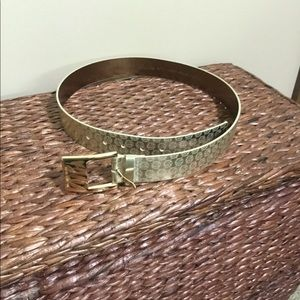 Michael Kors gold metallic belt